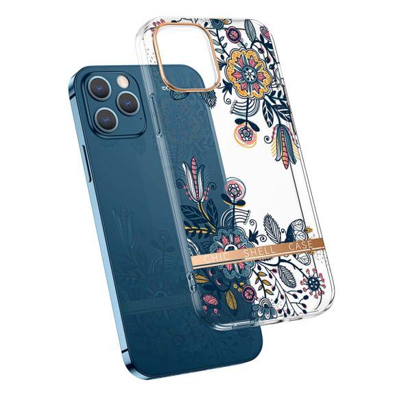 Coque iPhone 13 Pro Transparent fleurs graffiti