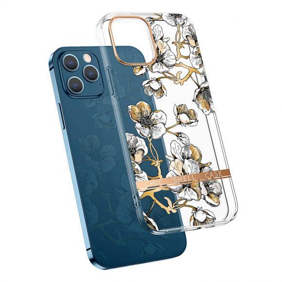 Coque iPhone 13 Pro Transparent Fleur Gardénia