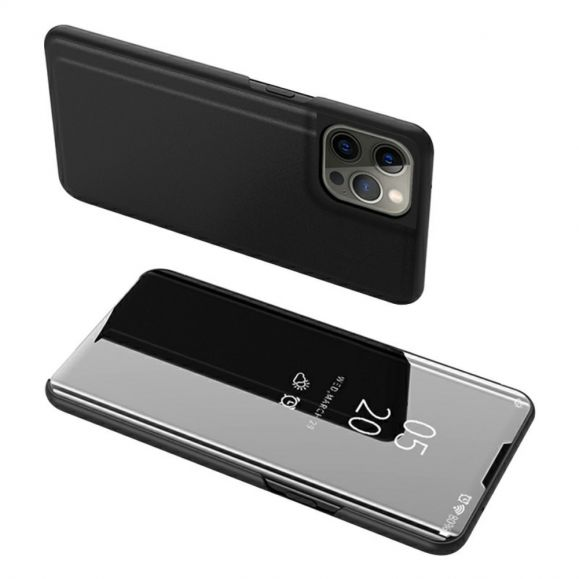 Coque iPhone 13 Pro avec rabat effet miroir