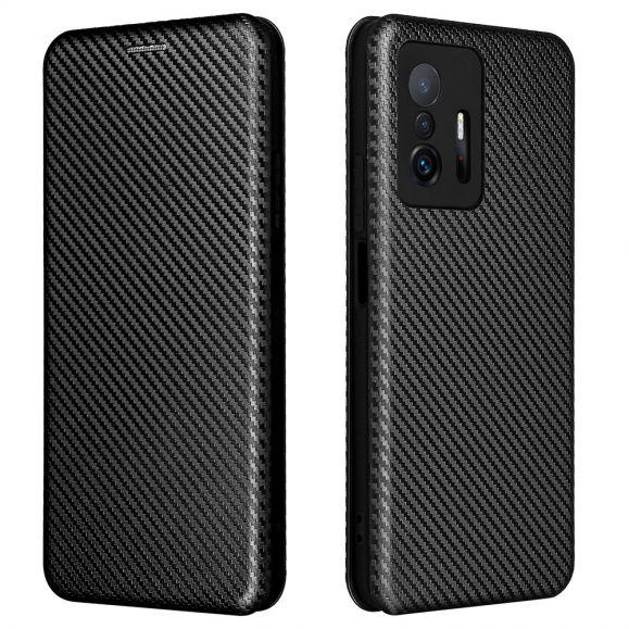 Housse Xiaomi 11T / 11T Pro simili cuir fibre de carbone