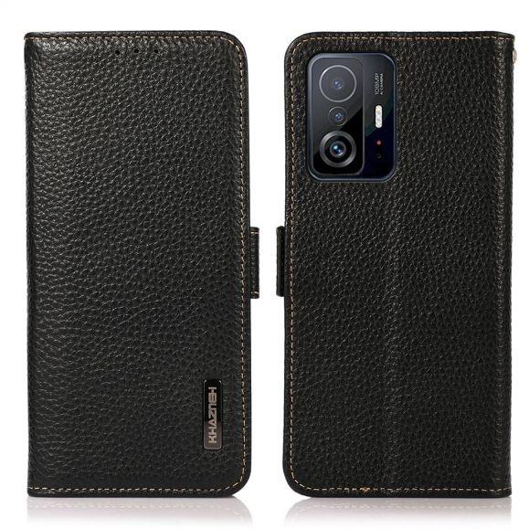 Housse Xiaomi 11T / 11T Pro Cuir Grainé KHAZNEH