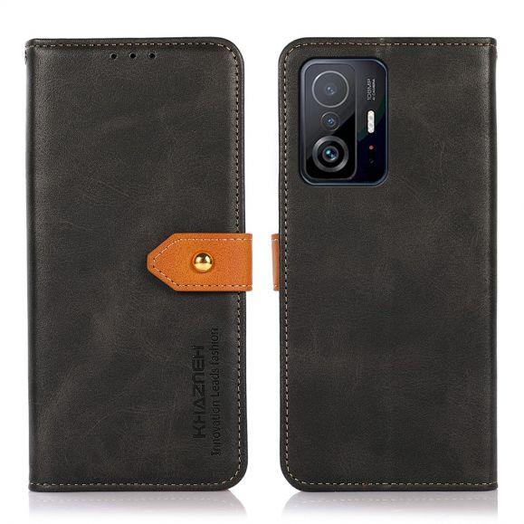 Housse Xiaomi 11T / 11T Pro KHAZNEH Bicolore simili cuir