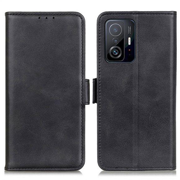 Étui Xiaomi 11T / 11T Pro portefeuille simili cuir mat