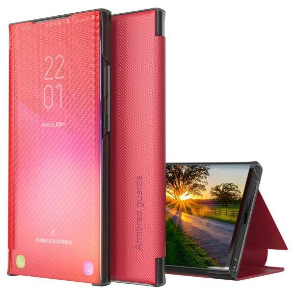 Flip cover Xiaomi Poco X3, X3 NFC, X3 Pro Fibre de carbone