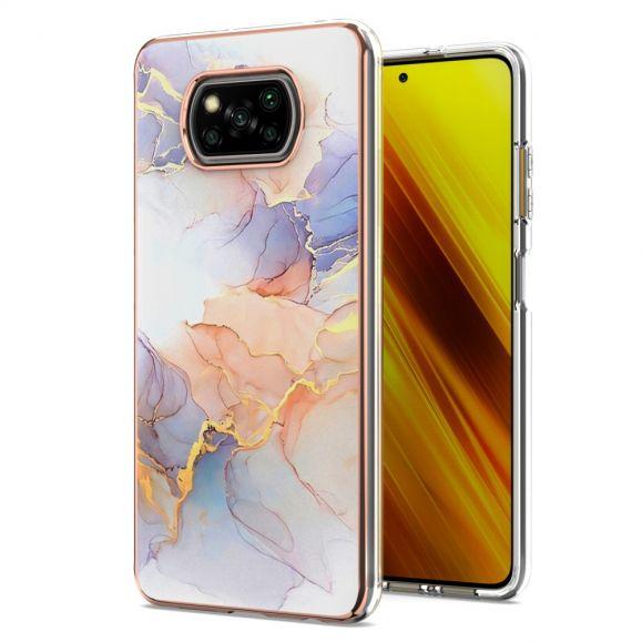 Coque Xiaomi Poco X3, X3 NFC, X3 Pro marbre coloré