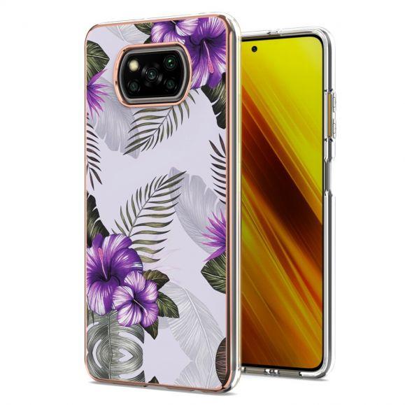 Coque Xiaomi Poco X3, X3 NFC, X3 Pro Fleurs Exotiques