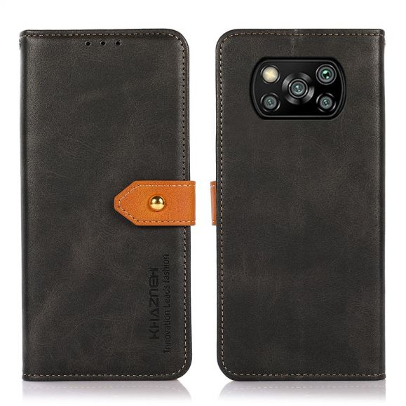 Housse Xiaomi Poco X3, X3 NFC, X3 Pro KHAZNEH Bicolore simili cuir