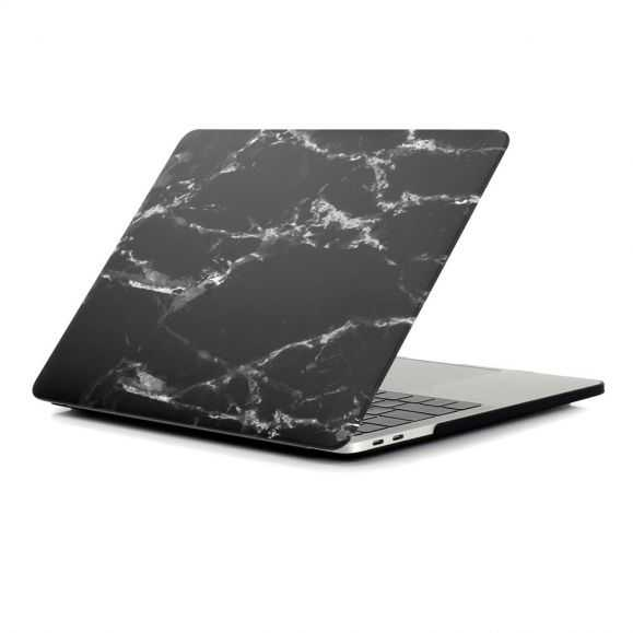 Coque MacBook Pro 13 / Touch Bar Marbre - Noir