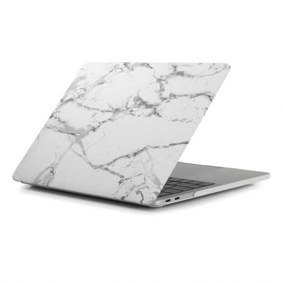Coque MacBook Pro 13 / Touch Bar Marbre - Blanc