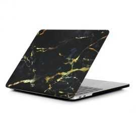 Coque MacBook Pro 13 / Touch Bar Marbre - Noir / Or