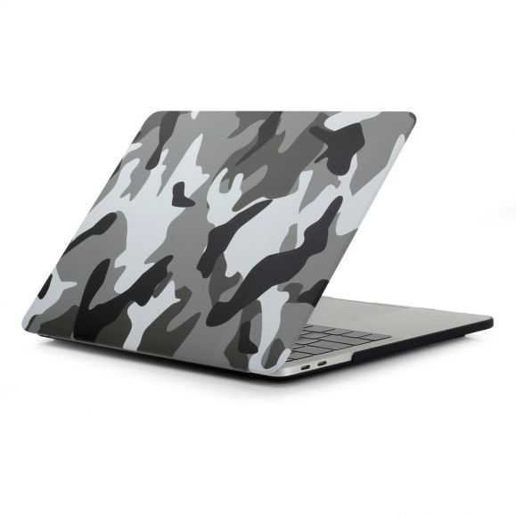 Coque MacBook Pro 13 / Touch Bar Camouflage Militaire - Gris