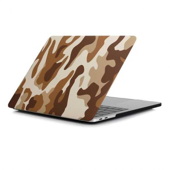 Coque MacBook Pro 13 / Touch Bar Camouflage Militaire - Marron