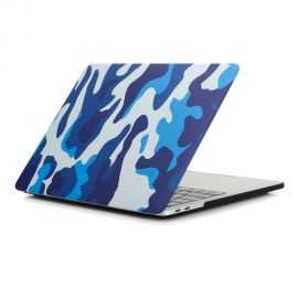 Coque MacBook Pro 13 / Touch Bar Camouflage Militaire - Bleu