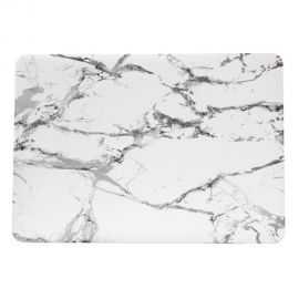 Coque MacBook Pro 13 pouces Marbre - Gris / Blanc