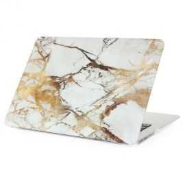 Coque MacBook 12 pouces Marbre - Or / Gris