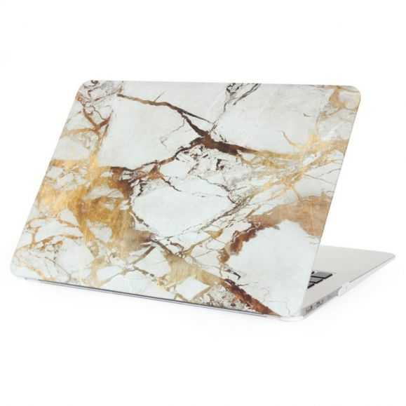 Coque MacBook 12 pouces Marbre - Or / Gris