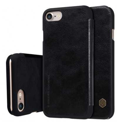 Housse iPhone SE / 8 / 7 Qin Series NILLKIN simili cuir - Noir