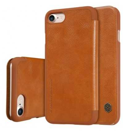 Housse iPhone 8 / 7 NILLKIN Cuir Porte Carte - Havane