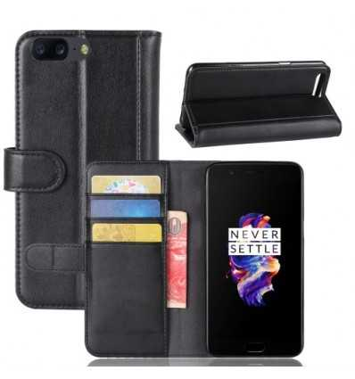 Housse OnePlus 5 Cuir Premium - Noir