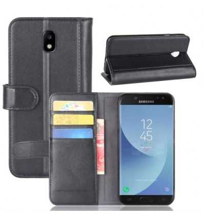 Housse Portefeuille Samsung Galaxy J5 2017 Cuir Premium - Noir
