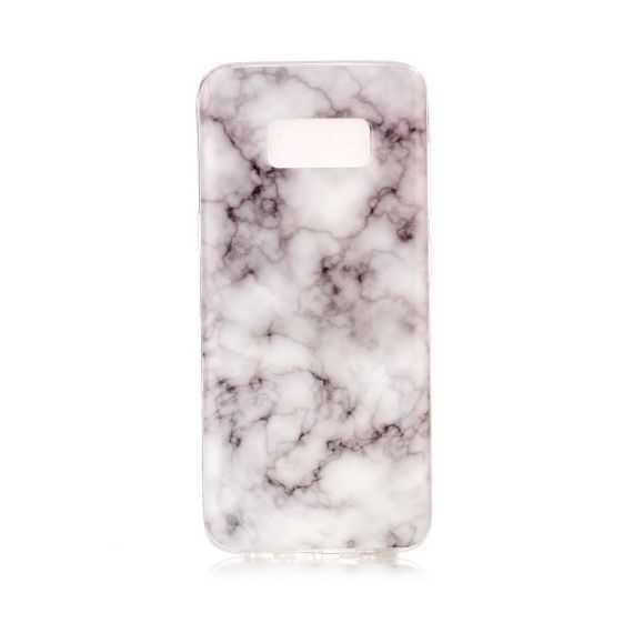Coque Samsung Galaxy S8 Marbre - Gris / Blanc