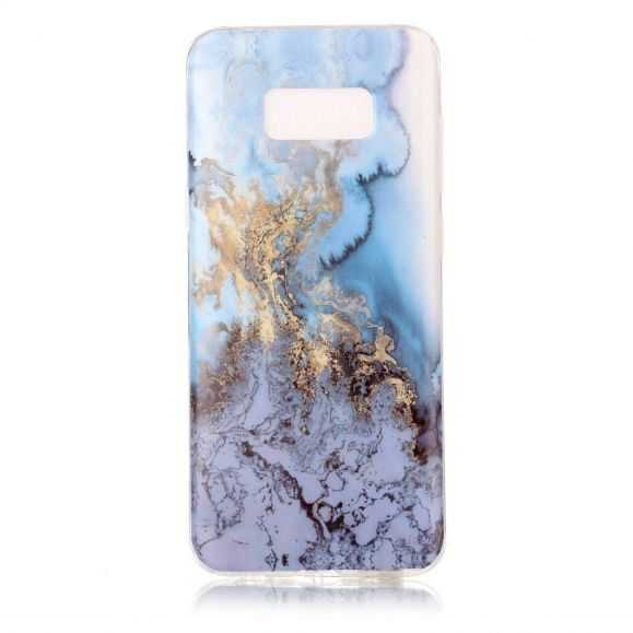 Coque Samsung Galaxy S8 Plus Marbre - Bleu Clair