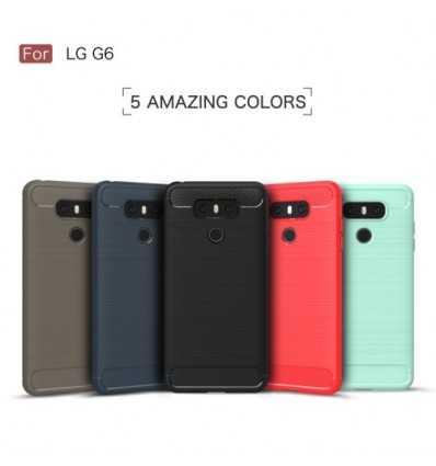 Coque LG G6 Carbone Brossée