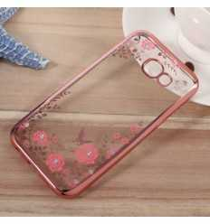 Coque fleurs et papillons Samsung Galaxy A5 2017 - Or Rose