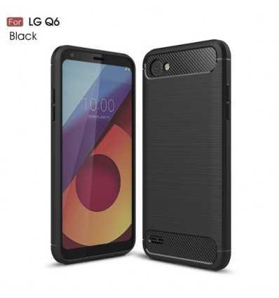Coque LG Q6 Carbone Brossée