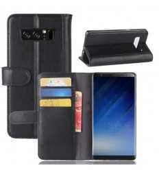 Housse Samsung Galaxy Note 8 Cuir Premium - Noir