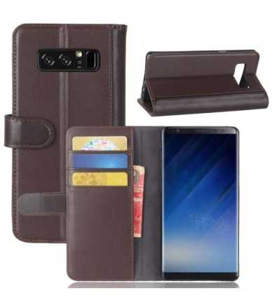Housse Samsung Galaxy Note 8 Cuir Premium - Marron