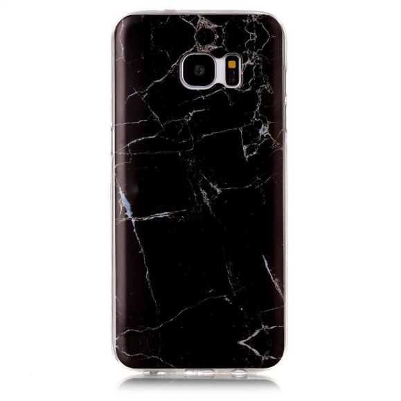 Coque Samsung Galaxy S7 Edge Marbre - Noir