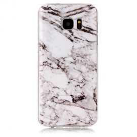 Coque Samsung Galaxy S7 Edge Marbre - Blanc