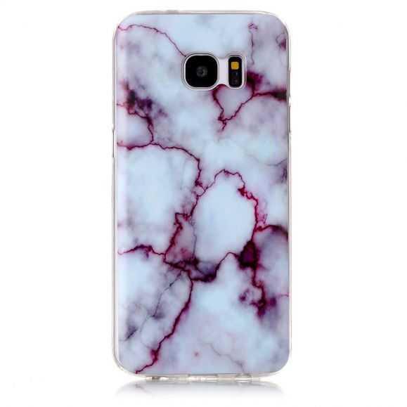 Coque Samsung Galaxy S7 Edge Marbre - Violet