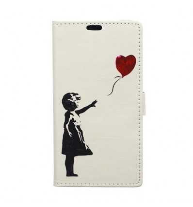Housse Sony Xperia XZ1 Flying Heart - Blanc