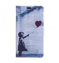 Housse Sony Xperia XZ1 Flying Heart - Gris