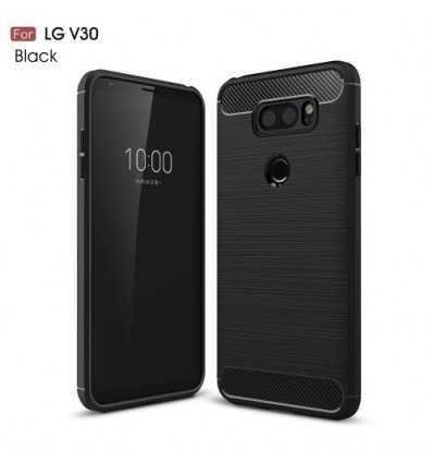 Coque LG V30 Carbone Brossée