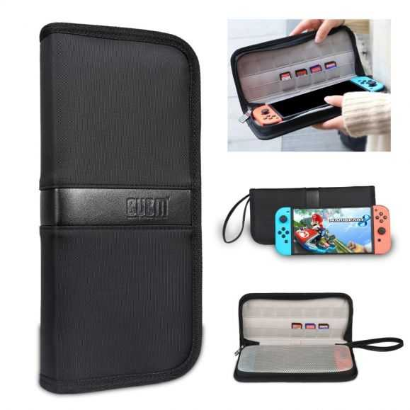 Housse de transport Nintendo Switch Cuir Premium - Noir