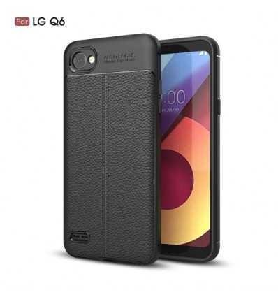 Coque LG Q6 Cuir Texture Litchi