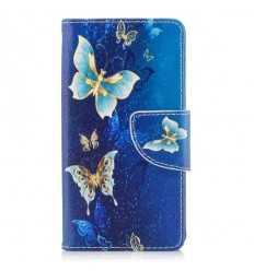 Housse Sony Xperia XZ1 Compact - Papillons bleus et dorés