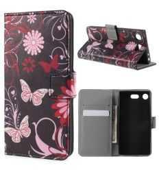 Housse Sony Xperia XZ1 Compact - Papillons et fleurs