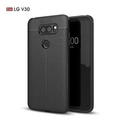 Coque LG V30 - Style cuir texture litchi