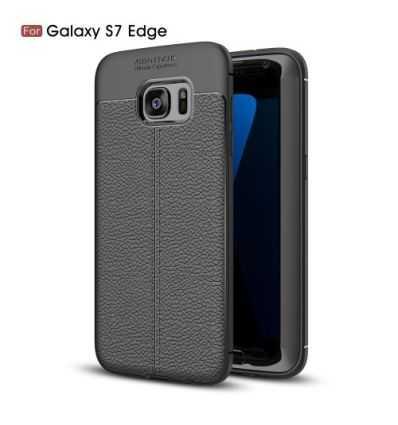 Coque Samsung Galaxy S7 Edge - Style cuir texture litchi