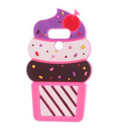 Coque LG Q6 Silicone Ice Cream