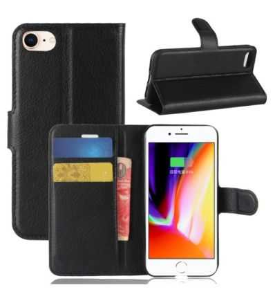 Housse iPhone SE / 8 / 7 Portefeuille Style Cuir
