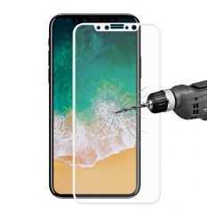 Protection d'écran Verre Trempé iPhone X Full Size - Blanc