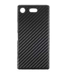 Coque Sony Xperia XZ1 Compact Fibre de Carbone - Noir