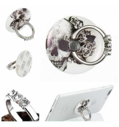 Bague support universelle pour smartphone - Skull flowers