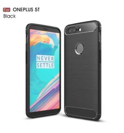 Coque OnePlus 5T Carbone Brossée