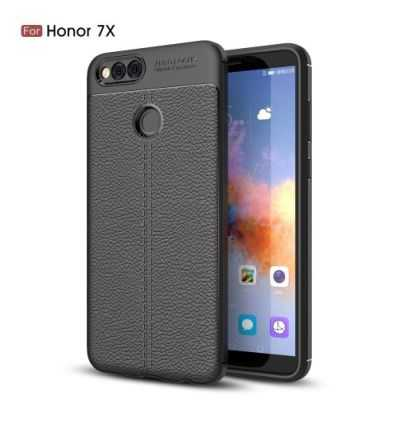 Coque Huawei Honor 7X Style cuir texture litchi